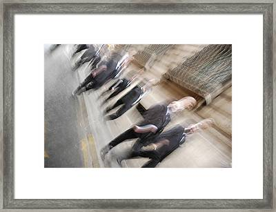 Time Priority Framed Print by Diego Bonomo