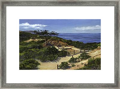 Torrey's Hike Framed Print by Lisa Reinhardt