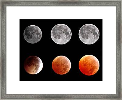 Total Eclipse Of Heart Sequence Framed Print by Joannis S Duran / Freelance Photographer