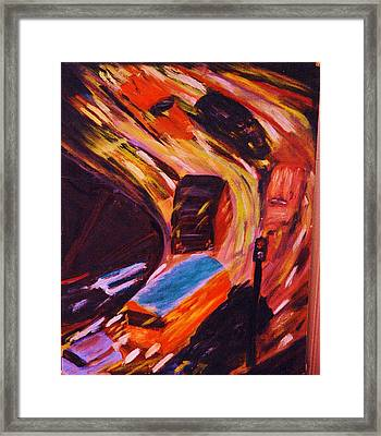 Framed Print featuring the painting Traffic by Kicking Bear  Productions