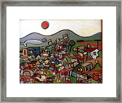 Trash Montain Framed Print by Michael Keogh