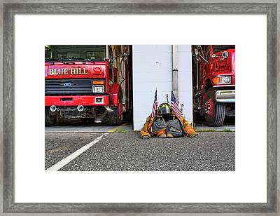 Framed Print featuring the photograph Tribute Color by Greg DeBeck