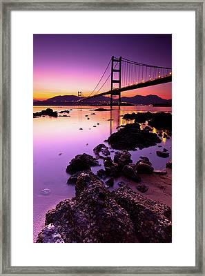 Tsing Ma Bridge Framed Print by Kenny Chow Kmdd