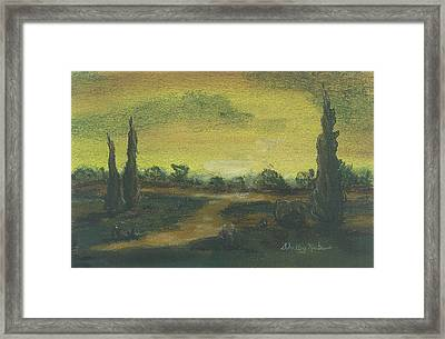 Tuscan Dusk 2 Framed Print by Shelby Kube