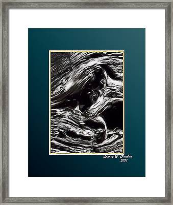 Twisted Framed Print by James  Dierker