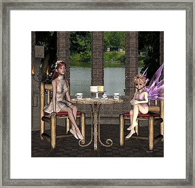 Two For Tea Framed Print by Morning Dew
