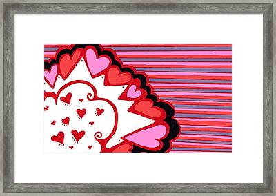 Valentine's Day Heart Abstract Framed Print