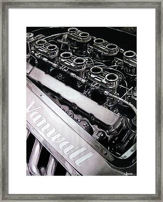 Vanwall 12-cyl Engine Framed Print by Uli Gonzalez
