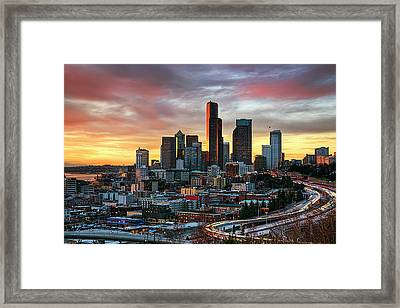 View Of Columbia Tower Framed Print