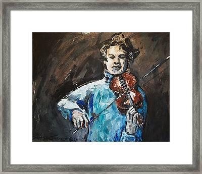 Violinist1 Framed Print by Denise Justice