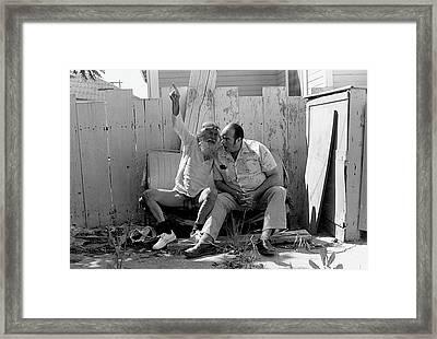Vito And Hot Dog David Framed Print by Gerhardt Isringhaus