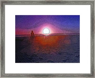 Walking In The Glow Framed Print by Pamela Patch