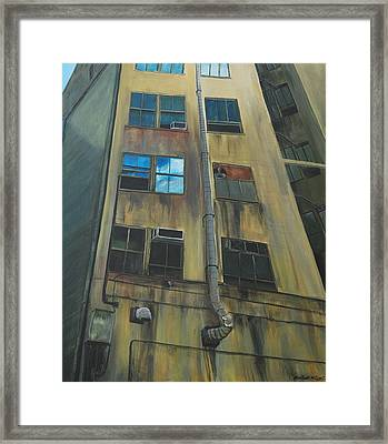 Wall St Alley Framed Print