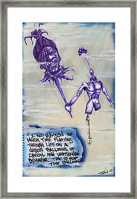Wasted Time Is Wasted Mind Framed Print by Tai Taeoalii
