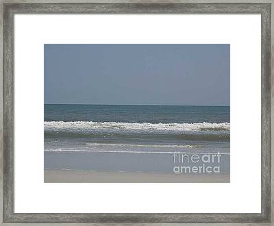 Watching The Waves Framed Print by Barb Montanye Meseroll