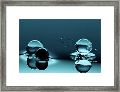Water Balls Framed Print by Alex Koloskov Photography
