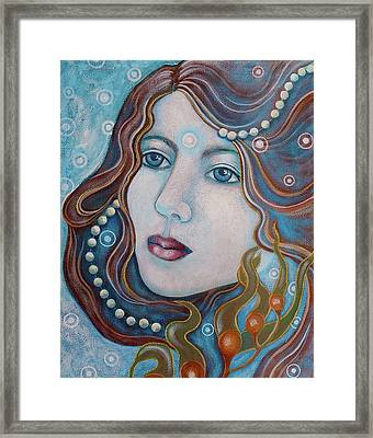 Framed Print featuring the painting Water Dreamer by Sheri Howe
