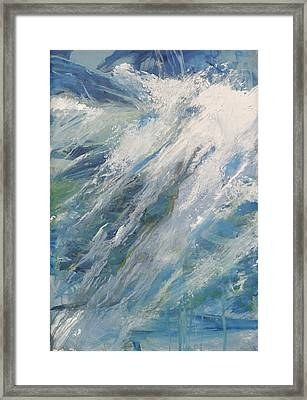 Framed Print featuring the painting Wave by John Fish