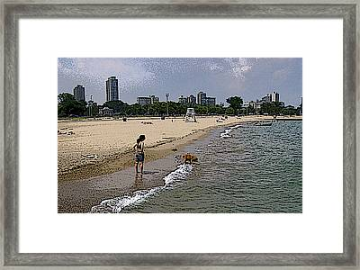 Framed Print featuring the photograph What's In The Water by Skyler Tipton