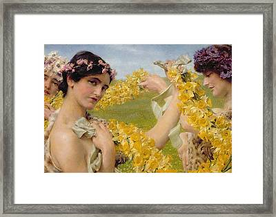 When Flowers Return Framed Print by Sir Lawrence Alma-Tadema