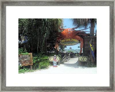 Where The Elite Eat In Their Bare Feet Framed Print by Juliana  Blessington