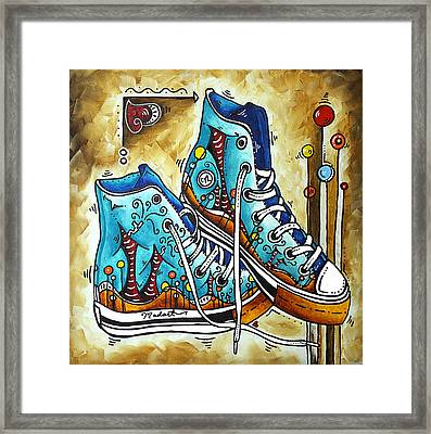 Whimsical Shoes By Madart Framed Print by Megan Duncanson