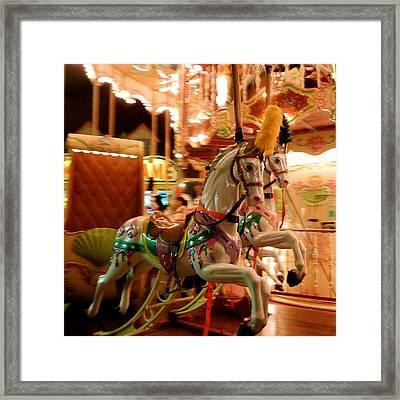 White Horses Framed Print by Linda Scharck