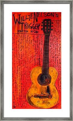Willie Nelson's Trigger Framed Print by Karl Haglund