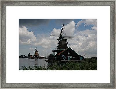 Framed Print featuring the photograph Windmill 3 by Vilas Malankar