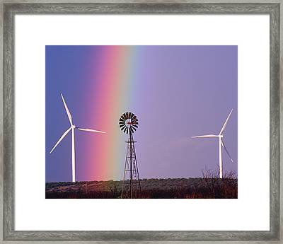 Windmill Promises Old And New Framed Print
