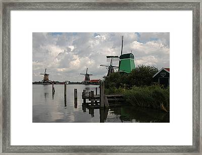 Framed Print featuring the photograph Windmills 2 by Vilas Malankar