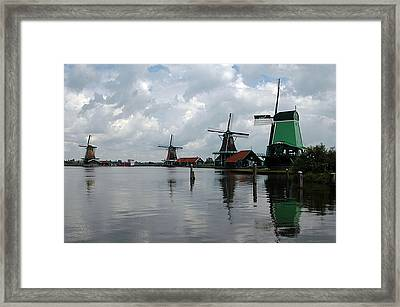 Framed Print featuring the photograph Windmills by Vilas Malankar
