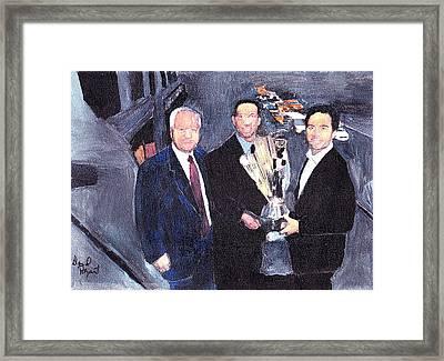 Winning Nascar Framed Print by David Poyant
