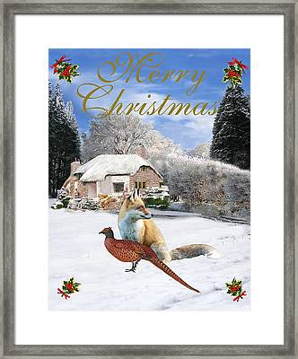 Winter Garden Christmas Framed Print