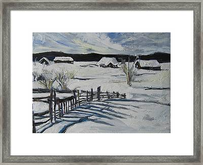 Framed Print featuring the painting Winter Scene by Debora Cardaci