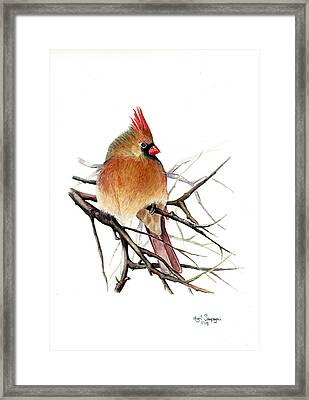 Framed Print featuring the painting Winter Solitude by Margit Sampogna