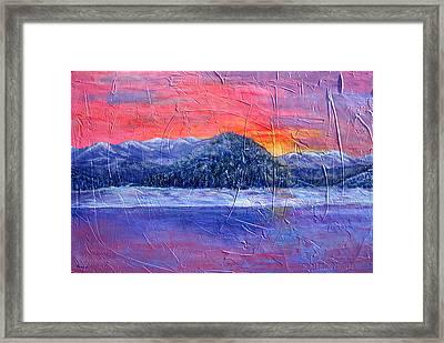 Winter Sunset Framed Print by Sandy Hemmer