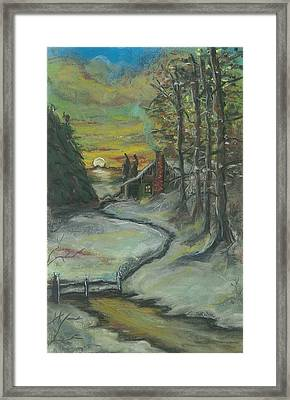 Winter's Here Framed Print by Shelby Kube