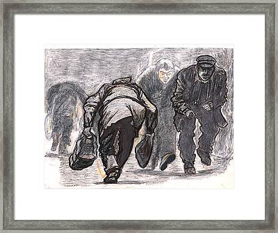 Work A Day Way Framed Print by Al Goldfarb