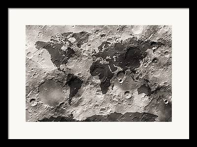 Moon Surface Framed Prints