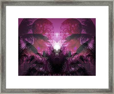 Worship At The Pink Sunset Framed Print