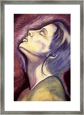 Framed Print featuring the drawing Worshiper by Carrie Maurer