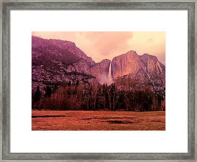 Yosemite Falls View Framed Print by Denise Taylor