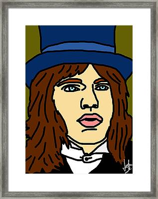 Young Mick Jagger Framed Print by Jera Sky