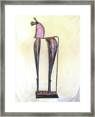 Young Trumpeting Horse Framed Print