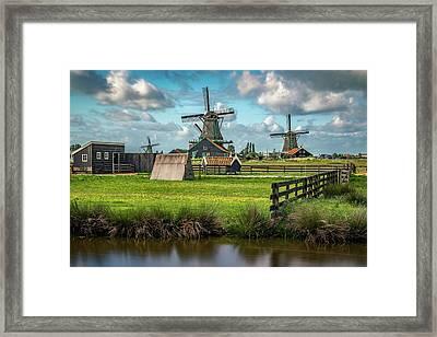 Zaanse Schans And Farm Framed Print