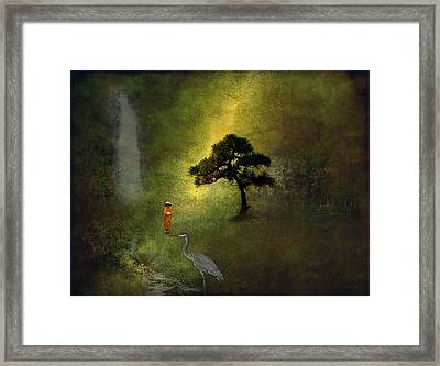 Zen Garden Framed Print by H Kopp-Delaney