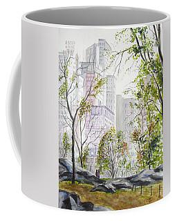 Central Park Stroll Coffee Mug by Clara Sue Beym