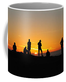 Coffee Mug featuring the photograph Panorama Everyone Likes A Sunset by Vivian Christopher