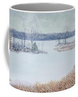 Winter Lake And Cedars Coffee Mug